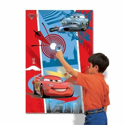 Disney Pixar Cars Birthday Party Game Pin the Sticker - 12 Player Poster Game