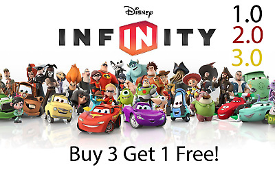 DIsney Infinity 1.0 2.0 3.0  Figures You Pick - Buy 3 get 1 FREE! Free Shipping!