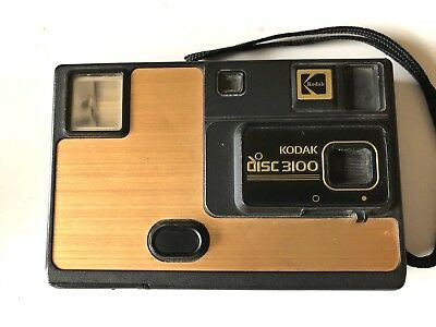 Kodak Disc Camera 3100 Vintage Disk 1980s Cool Woodgrain + Strap