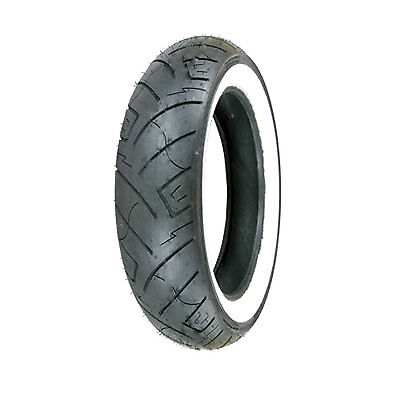 100/90-19 (61H) Shinko 777 H.D. Front Motorcycle Tire White Wall - Fits: BMW