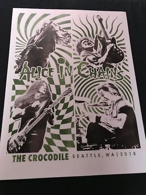 Alice In Chains poster for surprise show at Crocodile Cafe Seattle WA. AIC Jerry