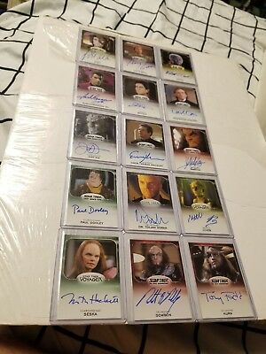 Star Trek Aliens auto lot of 15 hand signed autograph cards