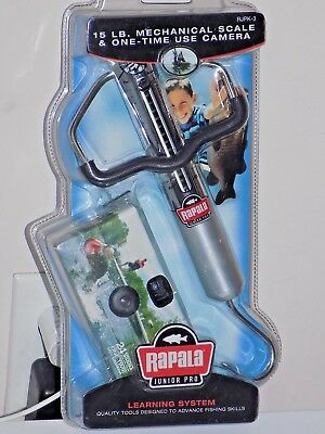 Rapala Junior Pro Mechanical 15lb Scale & 1 Time use 35mm Camera New Old Stock