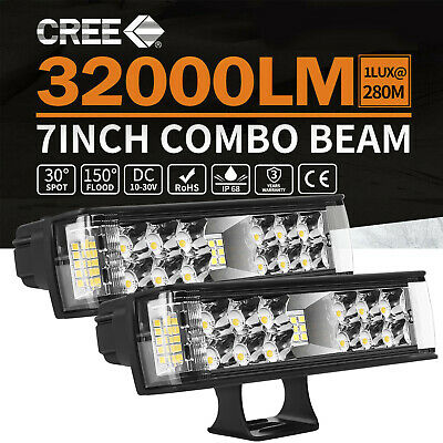 16Inch 864W LED Light Bar Spot Flood Combo OffRoad Driving 4x4WD Work Fog Lamp