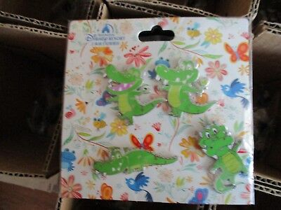 Disney Pin 123584 SDR - Crocodile Quere Set Alligator Booster Pack 4 pc NEW