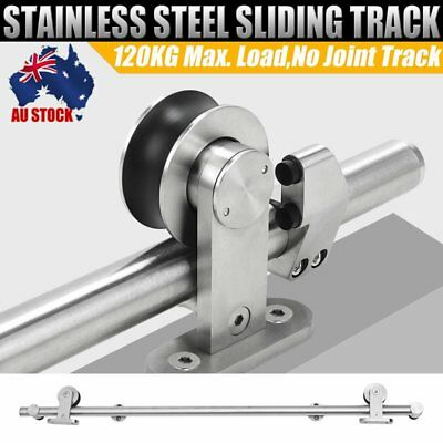 2M 304 Stainless Steel Sliding Barn Door Track Hardware Set Home Office Bedroom