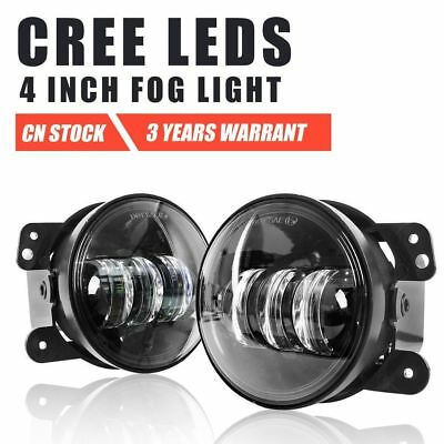 """Pair 4"""" inch 30W Led Fog Driving Lights Angel Eyes Offroad 4×4 Truck Lamp"""