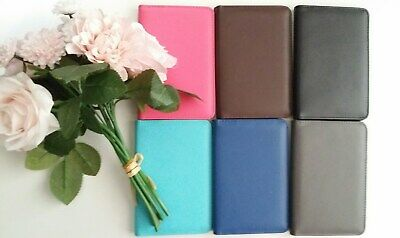 Premium Leather RFID Blocking Travel Wallet Passport Holder Credit Cards Pouch
