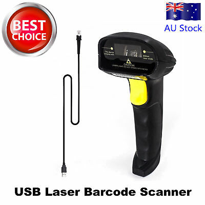 AU Ship Handheld USB Port Laser Barcode Scanner Bar Code Reader for POS Computer