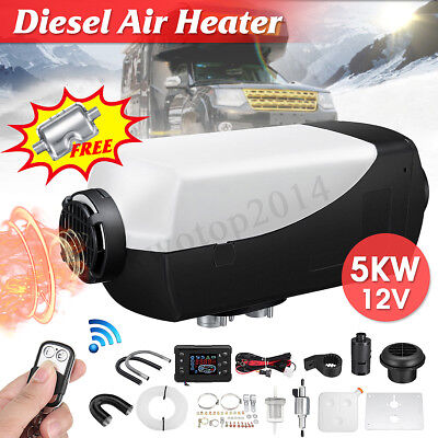 12V 5KW Diesel Air Heater LCD Switch Remote+10L Tank For Truck Trailer Car Boat