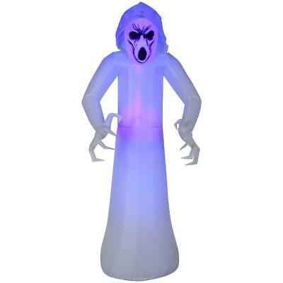 5 ft. Inflatable Frightened Ghost MD Black Light HALLOWEEN Outdoor Yard Decor