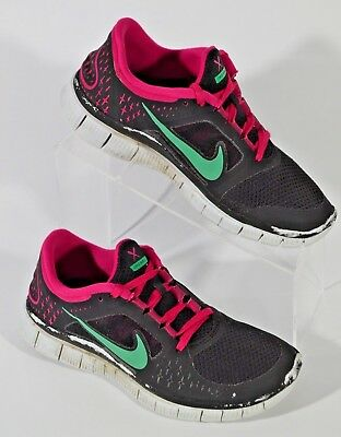 NIKE FREE RUN+ 2 Women's Running Shoes Size 8 Stealth Solar