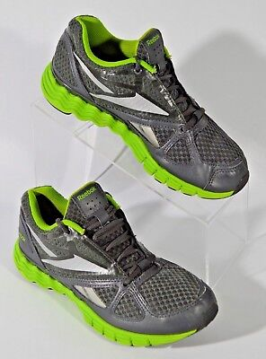 Woman s Reebok 023501-311 Smooth Flex Gray Green Running Shoes Size 6  Sneakers 5ee06d6f6