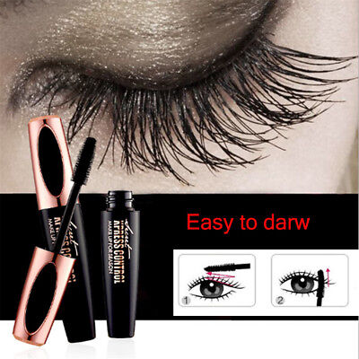 NEW 4D Silk Fiber Eyelash Mascara Extension Makeup Waterproof Kit Big Eyes EA