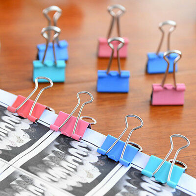 Metal Binder Clips File Paper Clip Photo Stationary Office Supplies Random Color