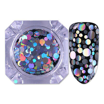 Holographic Nail Glitter Sequins Flakes Laser Nail Art Tips DIY Decor Mixed Size