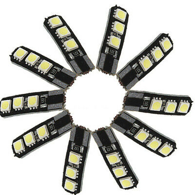 10X Canbus T10 194 168 W5W 5050 6 LED SMD White Car Side Wedge Light Lamp Bul ZC