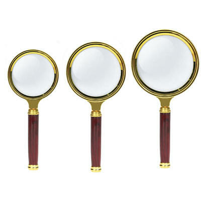 80mm Handheld 15X Magnifier Magnifying Glass Loupe Reading Jewelry Aid Big Large