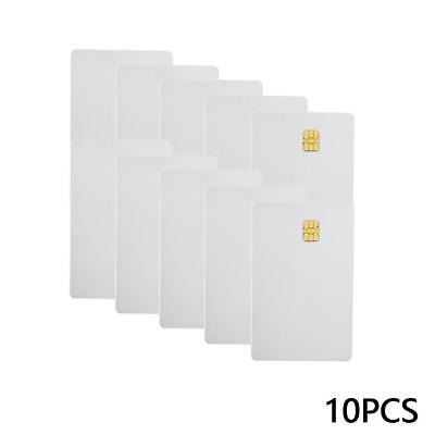 10X  set White PVC IC 4442 Chip Blank Smart Card Contact IC_Card A+