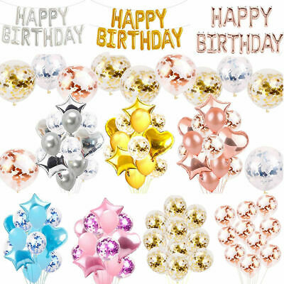 Happy 1st Birthday Balloons Bunting Banner 18/21st/30/40/50/60th Birthday Party