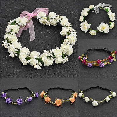 Retro Leaf Floral Hair Band Bohemian Hairband Headwear Women Girls Accessories