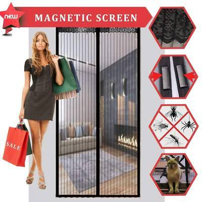 "Magnetic Screen Door with Reinforced Kits, Fits Doors up to 34"" x 82"" inch-Black"