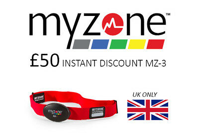 MYZONE HEART RATE MONITOR MZ-3 £50 OFF! instant (UK ONLY)