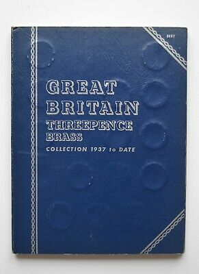 Whitman Folder Threepence Brass Collection 1937 to 1967 Full Set