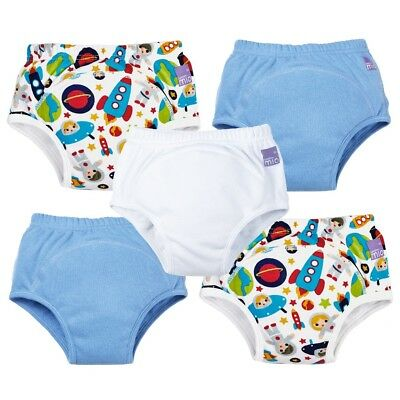 Bambino Mio Toddler Potty Training Pants Reusable Nappy for Boys 2-3 Years 5Pack