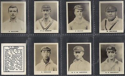 Thomson (Dc)-Full Set- Cricket Ers (Kf8 Cards) - Exc