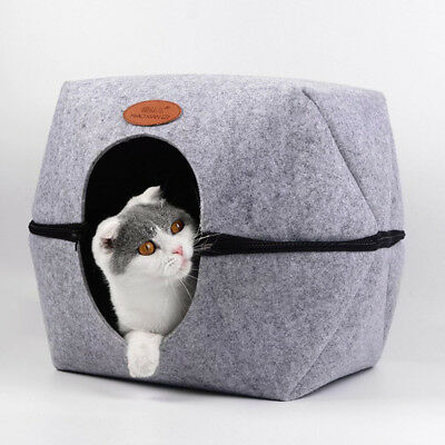 Washable Pet Cats Dogs Kennel Nest- Dog Bed House Mongolian Yurt Shaped Cave