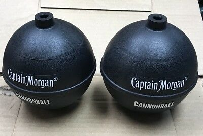 Set of 2 Captain Morgan Rum - Cannonball Drink Cups...Plastic..Very Cool....NEW