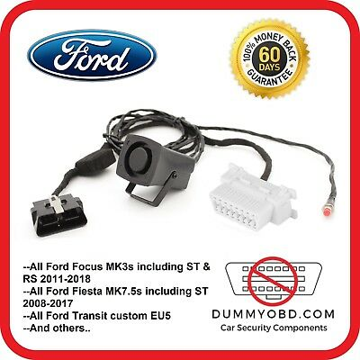 Ford Focus Fiesta Transit Custom Dummy Obd Port Lock Obd2 Guard Anti Theft Siren