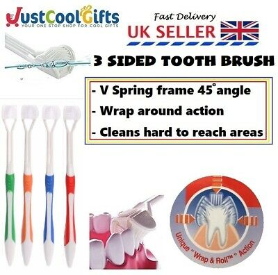 Special 3 Sided Tooth Brush Autism ADHD Sensory Childs Disabled UK SELLER
