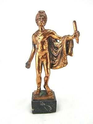 Bronze Statue of Ancient Greek Politician on Marble Base