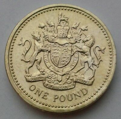 Great Britain, UK 1 Pound 1984. KM#933. One Dollar Coin. Shield of Great Britain