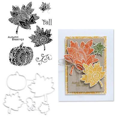 Maple Leaf Fall Dies Metal Cutting Stencil For Scrapbooking Paper Cards DIY Gift