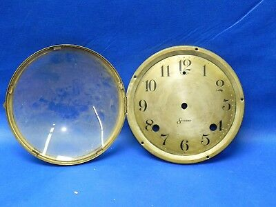 """Antique Sessions Clock Brass Dial with Bezel and Glass 6.5"""" Diameter"""
