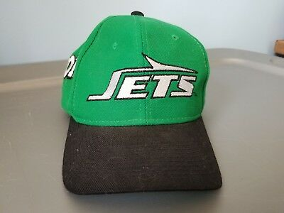 1299969b ... reduced vintage new york jets pro line snapback hat green black nfl cap  1980s logo 18260