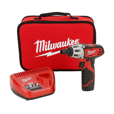 "Milwaukee 2401-21 M12 1/4"" Hex Screwdriver Kit New"