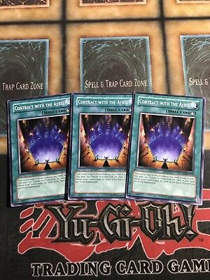 Yugioh Contract With The Abyss CP03-EN019 Common Playset x3!
