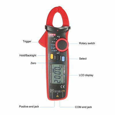 UNI-T UT210D Mini Digital Clamp Multimeter True RMS Auto Range DC/AC Voltage K2