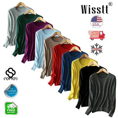 Womens Cashmere Loose Pullover Turtleneck Knit Sweater Cardigans Jumpers A980