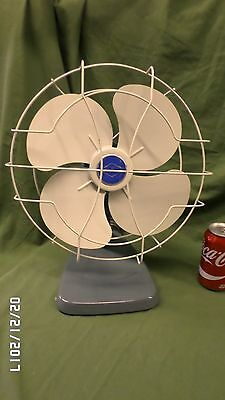 877D Vtg Liberty Fan Master Oscillating Fan ALL METAL Gray Base #1253 EXC COND