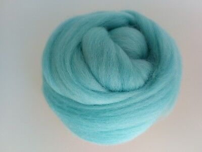 Light Turquoise* 100% Merino Rowing Wool Tops for Wet and Needle Felting 50 g