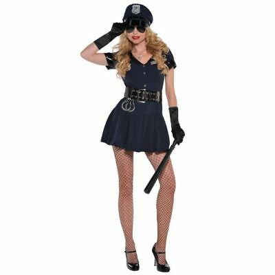 Sexy Police Woman Costume Officer Rita Dem Rights Cop Uniform Womens Size 8-10