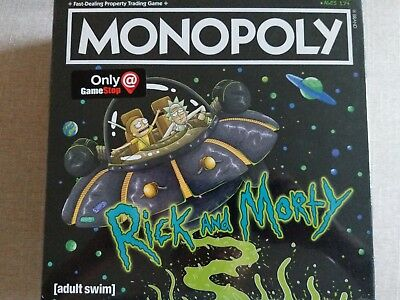 Monopoly Rick and Morty Exclusive Edition Tokens Brand New 7 Tokens & Sealed