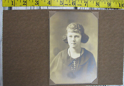Vintage Antique 1800s Photo Slip Cabinet Card Young Cute Teen Girl