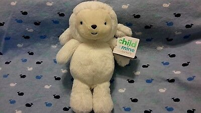 NWT CARTERS Child of Mine White Sheep Lamb Plush Lovey Rattle