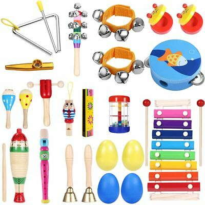 23X Percussion Set Kids Children Toddlers Musical Toy Band Rhythm Kit Instrument